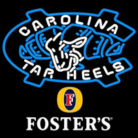 Fosters Unc North Carolina Tar Heels MLB Beer Sign Neon Sign