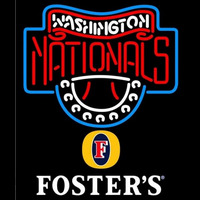 Fosters Washington Nationals MLB Beer Sign Neon Sign