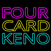 Four Card Keno 1 Neon Sign