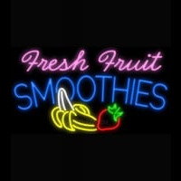 Fresh Fruit Smoothies Logo Neon Sign