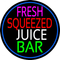 Fresh Squeezed Juice Bar Neon Sign