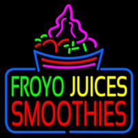 Froyo Juices Smoothies Neon Sign
