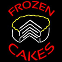 Frozen Cakes Birthday Dessert Neon Sign
