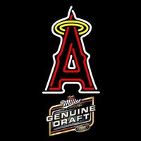 Genuine Draft Anaheim Angels MLB Beer Sign Neon Sign
