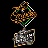 Genuine Draft Baltimore Orioles MLB Beer Sign Neon Sign
