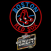 Genuine Draft Boston Red Sox MLB Beer Sign Neon Sign