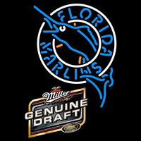 Genuine Draft Florida Marlins MLB Beer Sign Neon Sign