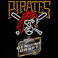 Genuine Draft Pittsburgh Pirates MLB Beer Sign Neon Sign