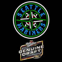 Genuine Draft Seattle Mariners MLB Beer Sign Neon Sign