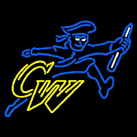 George Washington Colonials Secondary 1997 2002 Logo NCAA Neon Sign Neon Sign