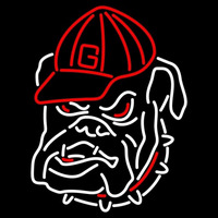 Georgia Bulldogs Secondary 1964 Pres Logo NCAA Neon Sign Neon Sign