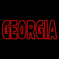 Georgia Bulldogs Wordmark 2013 Pres Logo NCAA Neon Sign Neon Sign
