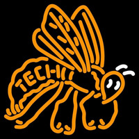Georgia Tech Yellow Jackets Alternate 1974 1977 Logo NCAA Neon Sign Neon Sign