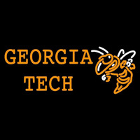Georgia Tech Yellow Jackets Wordmark 1991 Pres Logo NCAA Neon Sign Neon Sign