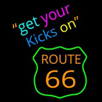 Get Your Kicks on Route 66 Neon Sign