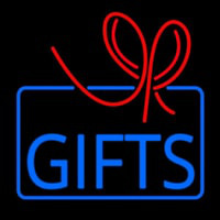 Gifts Block Logo Neon Sign
