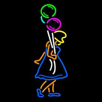 Girl With Balloon Neon Sign