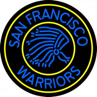 Golden State Warriors Primary 1962 63 1968 69 Logo NBA Neon Sign Neon Sign