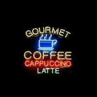Gourmet Coffee Cappuccino Latte Neon Sign