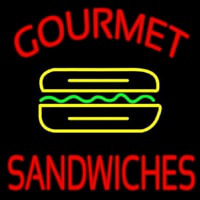 Gourmet Sandwiches Neon Sign