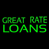 Great Rate Loans Neon Sign
