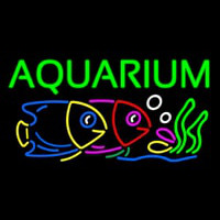 Green Aquarium Fish 2 Neon Sign