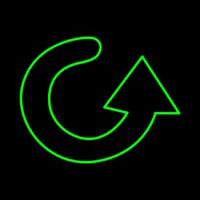 Green Arrow Neon Sign