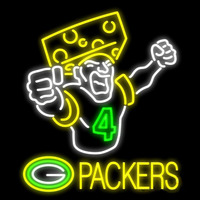 Green Bay Packers Favre Cheesehead Packer Fan Real Neon Glass Tube Neon Signs Neon Sign