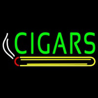Green Cigars Logo Neon Sign