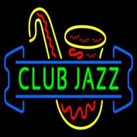 Green Club Jazz Block With Sa ophone 3 Neon Sign
