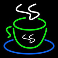 Green Coffee Cup Neon Sign