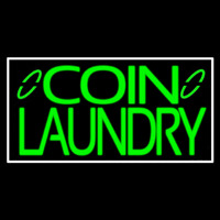 Green Coin Laundry Neon Sign