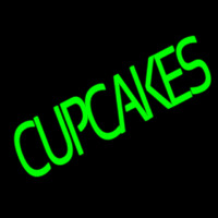 Green Cupcakes Neon Sign