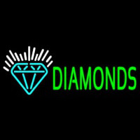 Green Diamonds Logo Neon Sign