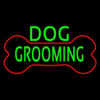 Green Dog Grooming Red Bone Neon Sign