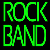 Green Double Stroke Rock Band Neon Sign