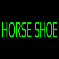 Green Horse Shoe Neon Sign