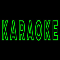 Green Karaoke Block 2 Neon Sign