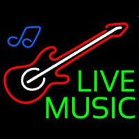 Green Live Music Neon Sign