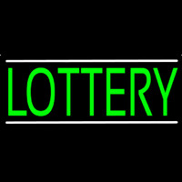 Green Lottery Neon Sign