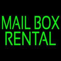 Green Mailbo  Rental Neon Sign