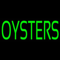 Green Oyster Block Neon Sign