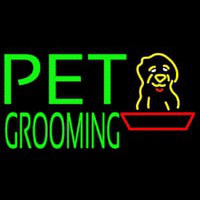 Green Pet Grooming Block 1 Neon Sign