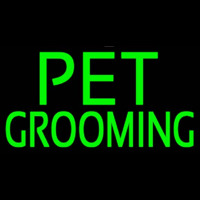 Green Pet Grooming Block 2 Neon Sign