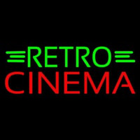 Green Retro Red Cinema Neon Sign