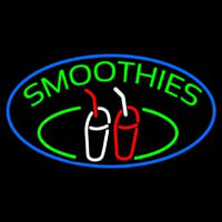 Green Smoothies With Glass Neon Sign