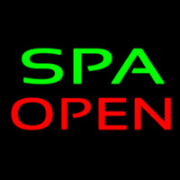 Green Spa Open Neon Sign