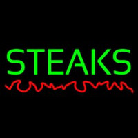 Green Steaks Neon Sign