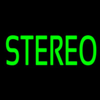 Green Stereo Block 2 Neon Sign