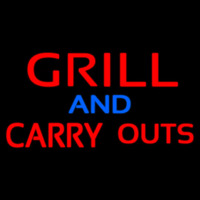Grill And Carry Outs Neon Sign